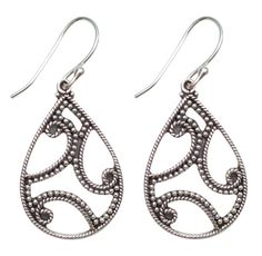925 Sterling Silver Earrings - Handmade Filigree Earrings