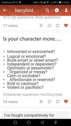 Im gonna do one for my OC. Introverted Logical book smart dependent organized calm a bit bold and cautious a bit Violent and pacifist Book Writing Tips, Creative Writing Prompts, Writing Words, Writing Resources, Writing Help, Writing Skills, Writing Ideas, Script Writing, The Words