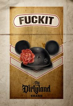 'The Dirtyland', pack of 'Fuckit' smokes. By www.thinkspacegallery.com events, 'The Dirtyland', with Brian Viveros art.