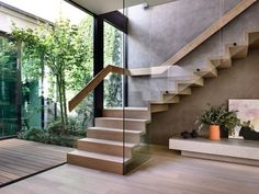 Tlp Bayside House Matyas Architects 07 - The Local Project Home Stairs Design, Interior Stairs, Modern House Design, Modern Houses, Modern Stairs Design, Stair Design, Design Design, Stairs Architecture, Interior Architecture