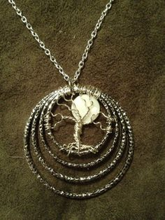 Full Moon Tree of Life Hand Wire Wrapped Pendant by Just4FunDesign, $25.00