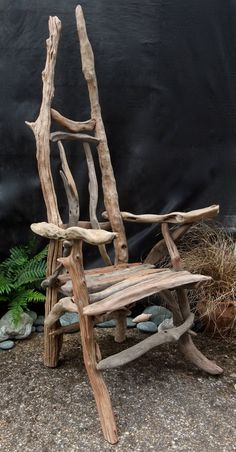 Driftwood story tellers chair