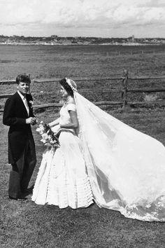 Jackie Onassis & John F. Kennedy