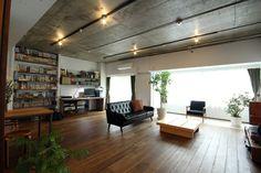 リノベーション事例集|リノベーションマンションをリノベーションで、自分好みに! Loft Style Homes, Living Spaces, Living Room, Interior Decorating, Interior Design, My Room, Custom Homes, Interior Architecture, Home Furniture