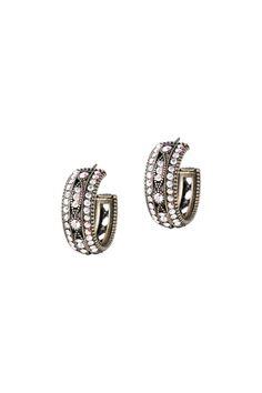 Greenwich Hoop Earrings - Small - Michal Negrin