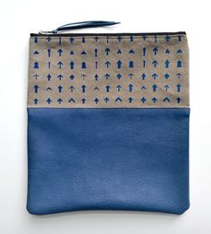 Arrows Leather & Canvas Clutch | Women's | Two Tickets | Scoutmob Shoppe | Product Detail