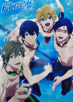 Free! ~ The Iwatobi Boys :: Haru, Makoto, Nagisa, and Rei :)