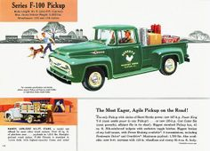 Visit our website to view our large inventory of the vintage and iconic Ford pickup trucks for sale. We have a wide selection of colors and options for your choosing. Ford 56, 1956 Ford Pickup, 1956 Ford Truck, Ford Pickup Trucks, Vintage Trucks, Old Trucks, Vintage Ads, Henry Ford, Pickups Ford
