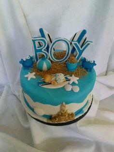 Beach baby shower cake