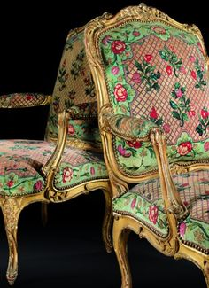 Antique Louis XV pair of Giltwood Armchairs | Blouin Boutique | Sotheby's.