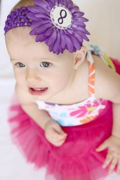 Monthly Hairbows  Month Marker Headband Hairbows by MonthMarkers, $22.00