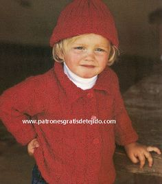 Conjunto dos agujas para niño tutorial Baby Knitting Patterns, Beanie, Hats, Fashion, Dresses For Babies, Fabric Samples, Knitted Baby, Tricot, Moda