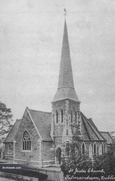 1864 - St. Jude's Church, Inchicore, Dublin.  Architect: Welland & Gillespie Constructed between 1862 and 1864 in an Early English gothic style at a cost of £4,000. Demolished in 1988, leaving only the