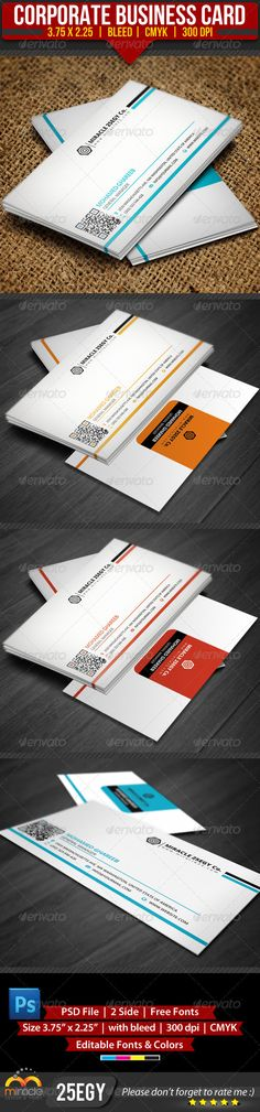 Corporate Business Card :  --------------------------------------  check out this #creative #design #business_card just for 6$  http://graphicriver.net/item/corporate-business-card/3553366?WT.ac=item_more_thumb_1=item_more_thumb_author=25EGY=25EGY