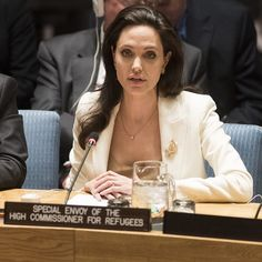 Angelina Jolie Pitt, #UnitedNations Special Envoy for Refugee Issues, addresses the #UN Security Council on the continuing conflict in #Syria and the humanitarian and refugee crises.  Ms. Jolie Pitt, who has made 11 visits to Syrian #refugees in #Iraq, #Jordan, #Lebanon, Turkey and Malta since the Syrian conflict began in 2011, urged political will and action to resolve the crisis.