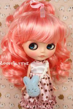 """12"""" Goodyblythe Hair Wig for Blythe Pink Alice W289. $16.99, via Etsy."""