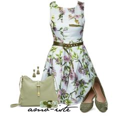 """""""Cute Green"""" by amo-iste on Polyvore"""