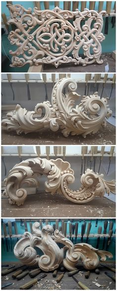 Rococo style ornamentation - Wood carving. iconostasises