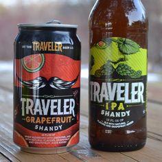 Traveler Grapefruit Shandy and IPA Shandy