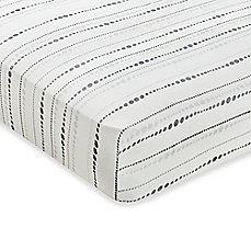 image of aden + anais® Rayon Bamboo Fiber Fitted Crib Sheet in Moonlight Bead