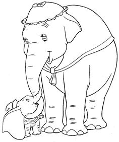 disney movies coloring pages | Dumbo movie and Jumbo Junior, then you'll like these coloring pages ...