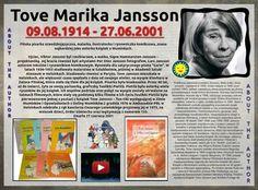 Tove Jansson (9.08.1914-27.06.2001)