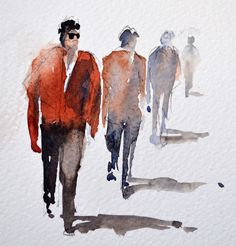 How to keep it simple with grahame booth watercolor w 2019 watercolor art, pain Watercolor Sketch, Watercolor Artists, Watercolor Portraits, Watercolor Techniques, Watercolour Painting, Sketch Art, Watercolors, Painting People, Drawing People