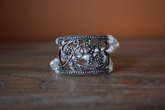 Elegant Pearl and Silver Cuff Style by AddSomeCharmBoutique