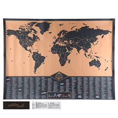 20 best scratch map images on pinterest cards scratch off and yoluke adventure world europe map off the deluxe edition vintage decorative poster creative birthday gift toy with card gumiabroncs Images