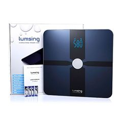 Lumsing Bluetooth Smart Body Fat Scale Body Composition Monitor with Free App for iOS Android Devices 180kg400lb Blue -- You can get more details by clicking on the image.