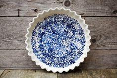 Pour la tourtière d'Annette white and blue  by ArtetManufacture, $75.00