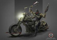 Nexus Ravager Biker Learn More: http://icarusminiatures.com/concept-art-preview-nexus-ravager-biker/