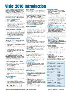 Microsoft Visio 2010 Introduction Quick Reference Guide (Cheat Sheet of Instructions, Tips  Shortcuts - Laminated Card)