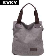 dc99ecdf902 KVKY Fashion Women messenger bags ladies Canvas Bag Vintage Handbag Bucket  Causal big Bags Travel Shoulder
