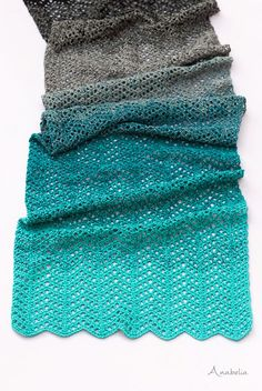 Crochet shawl in delightful chevron stitch
