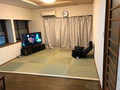 リビングを畳にリフォーム Tatami Room, Flat Screen, Curtains, Kokoro, Japanese, Home Decor, Blood Plasma, Blinds, Decoration Home