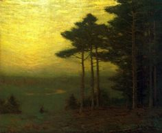 Golden Sunset by Charles Warren Eaton [American Tonalist Painter, 1857-1937]