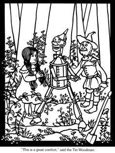 Welcome to Dover Publications - sample --The Land of Oz Stained Glass Coloring Book