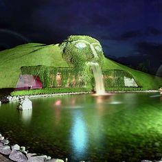 Swarovski Museum- Innsbruck, Austria. Green outside, gleaming crystals inside.