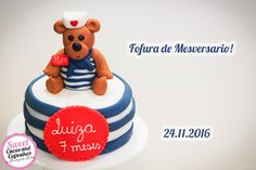 Sweet Cucas and Cupcakes by Rosângela Rolim: Mini Bolo de Mesversario!