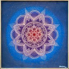 Choose Happy, Be Love. Carved mandala by Jamie Locke.