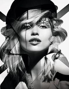 Les mannequins du numéro d'août 2013 de Vogue Paris Hana Jirickova Damien Blottière Anglomania