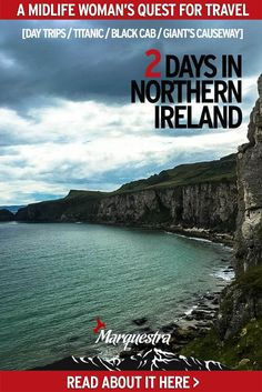 This is how to spend 2 days in Northern Ireland. Take a day trip to Giant's Causeway from Belfast, visit the Titanic, grab a black cab for a political tour are just a few of the things to do in Northern Ireland. Travel Tours, Travel Advice, Travel Guides, Travel Destinations, Travel Plan, Travel Europe, Black Cab, Travel Trailers For Sale, Travel Information
