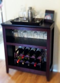 Last weekend's project- DIY wine rack made out of a bookshelf from Target!