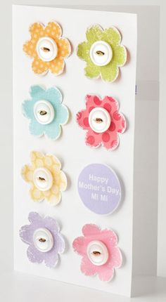 Happy Mother's Day Card, plus a great template for any type of occasion. The flowers are so cute!