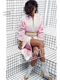Rihanna voor Balmain spring/summer 2014 - Zien! Zomercampagnes 2014 #Rihanna #RiRi #BadgalRiri #Balmain #campaign #fashion #mode #model #photography #ELLE