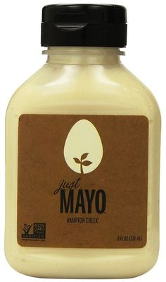 Hampton Creek Just Mayo - so the gov't is saying Hampton Creek can't call this Mayo because it contains no eggs. Well I LOVE it. It's so good (only other mayo i love is Bama and it's not in California) Just Mayo is Just Great! Mayonnaise Recipe, Homemade Mayonnaise, Bottle Packaging, Food Packaging, Packaging Ideas, Vegan Mayonaise, Salad In A Jar