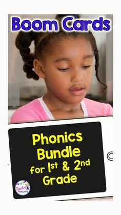 This no prep, self-checking, First Grade Bundle features 16 digital Boom Card Phonics Word Work Activities, Phonics Activities, Literacy Worksheets, 2nd Grade Classroom, First Grade Teachers, Interactive Learning, Kids Learning, Reading Mastery, Phonics Words