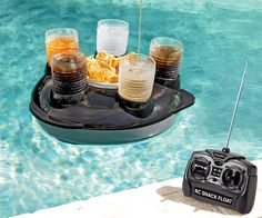 Remote Control Drink Float!   Perfect for lazy lake days!