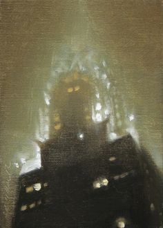 Chrysler Building Nocturne, painting by artist Stephen magsig
